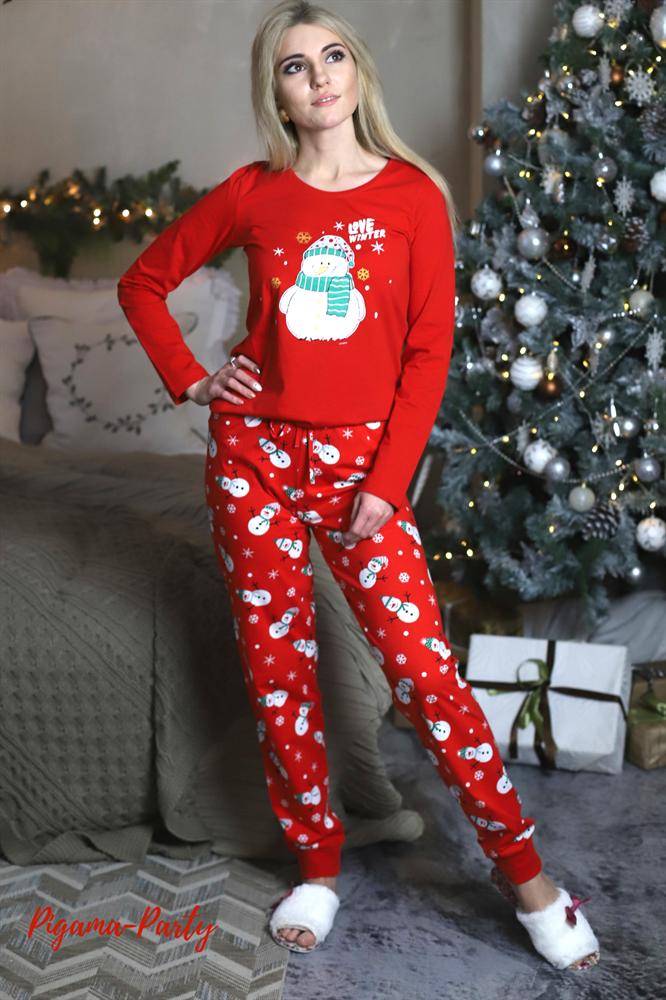 Новогодняя женская пижама - фото 6062 0cb792bc73b7e