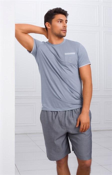 Пижама с шортами - фото 4841
