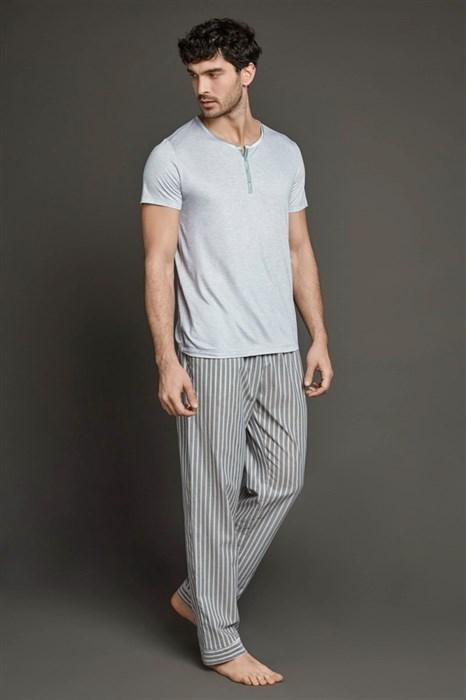 Пижама с брюками в полоску - фото 4858