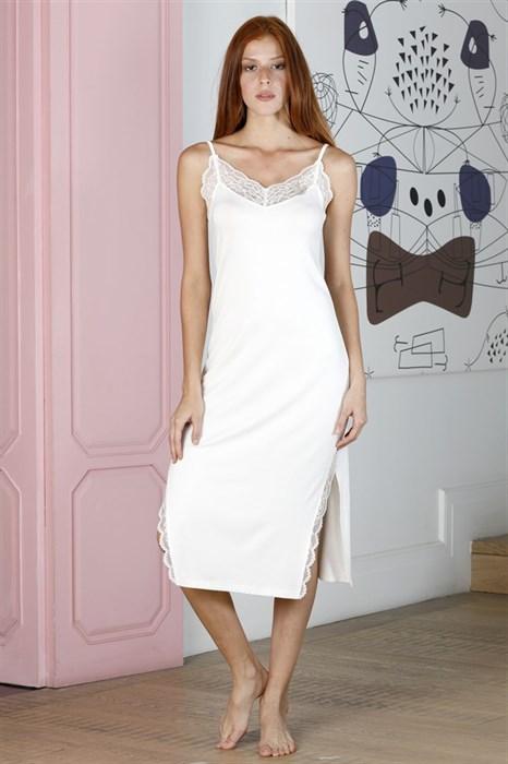Сорочка длинная белая - фото 4914