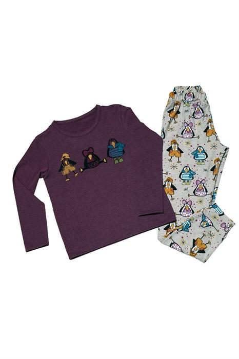 Пижама детская теплая - фото 4921