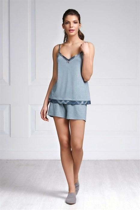 Пижама маечка с шортами - фото 5057