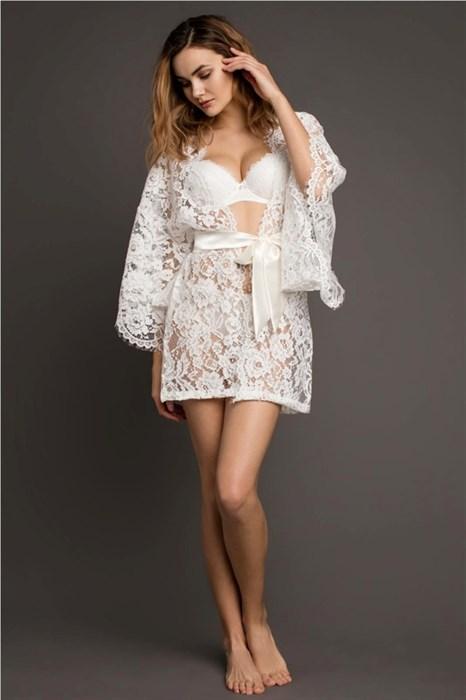 Белый халат-кимоно - фото 5083