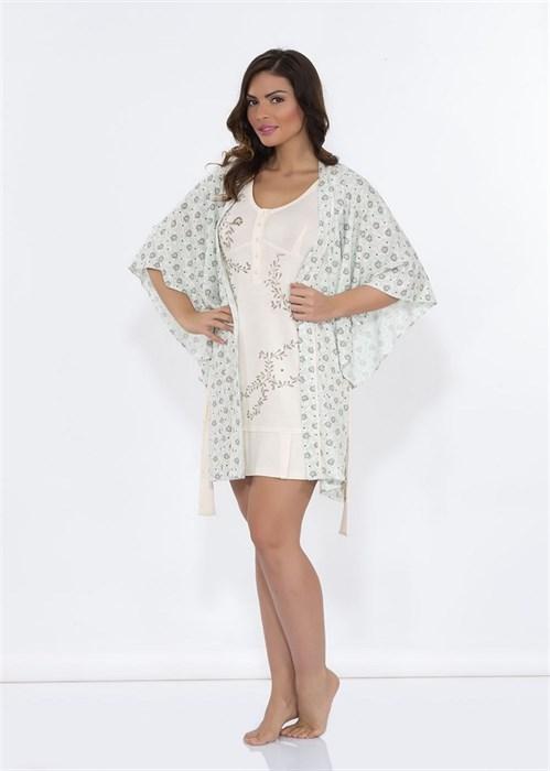 Легкий халат с ночной сорочкой - фото 5472