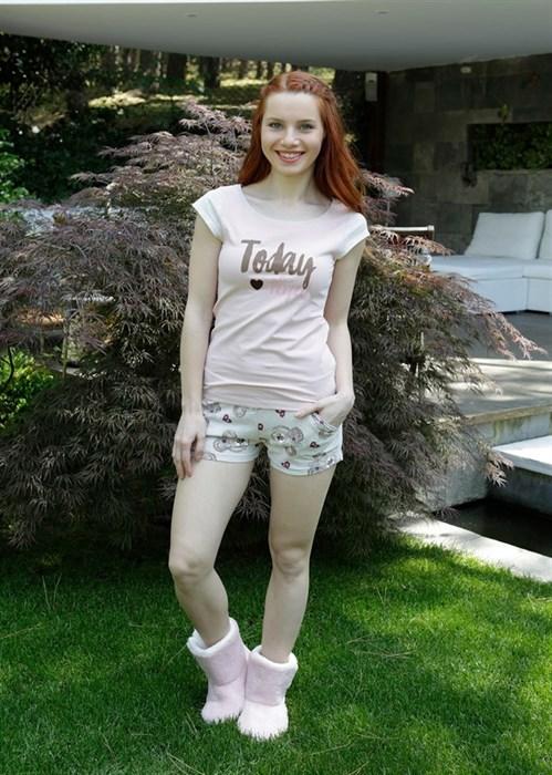 Мягкая пижама с шортами - фото 5576