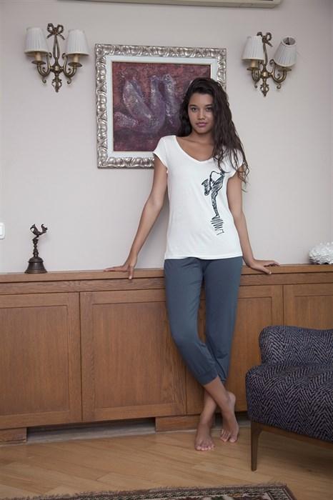 Пижама женская с бриджами - фото 5656