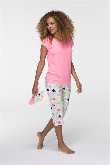 Пижама хлопковая с тапочками - фото 5679