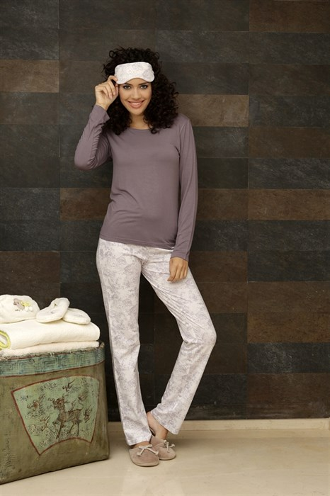 Пижама из хлопка 4 предмета - фото 5788