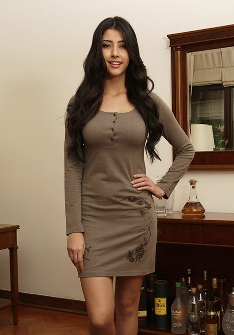 Домашнее платье с вышивкой - фото 5864