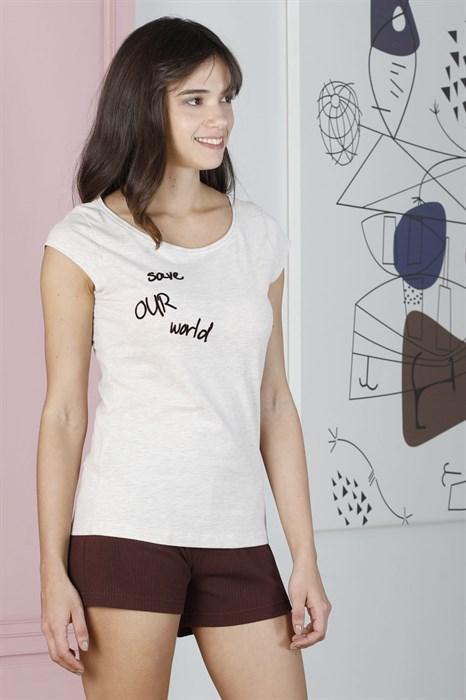 Пижама с шортами - фото 6413