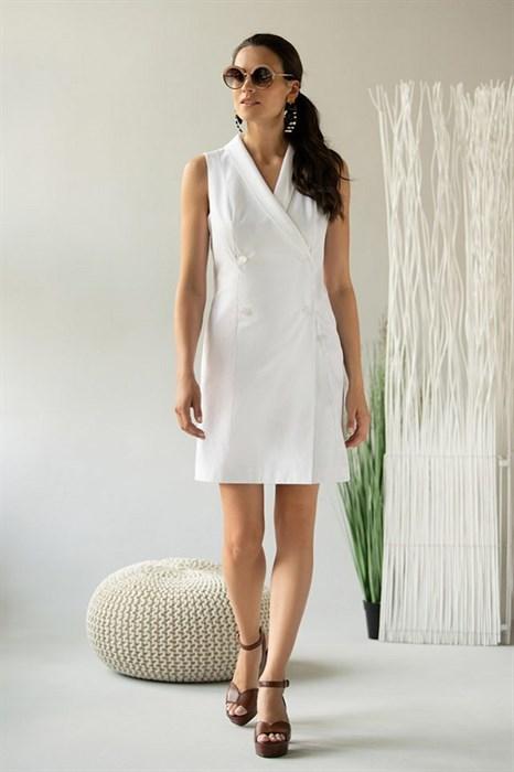 Летнее белое платье - фото 7356
