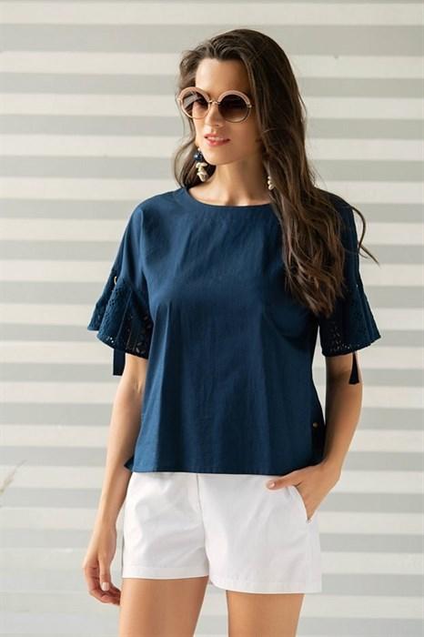 Хлопковая блуза Laete - фото 7389