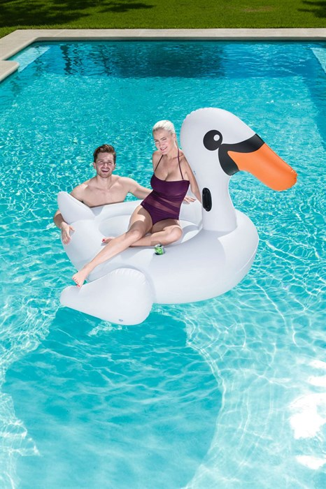 Надувной лебедь для плавания - фото 7453