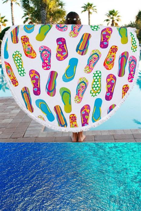 Круглое полотенце для пляжа - фото 7611