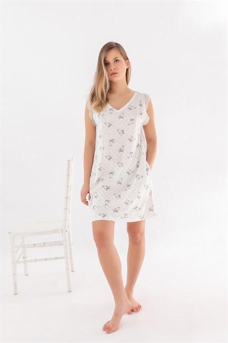 Ночная сорочка на широких лямочках - фото 7937