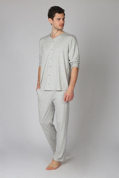 Мужская пижама на пуговицах - фото 8317