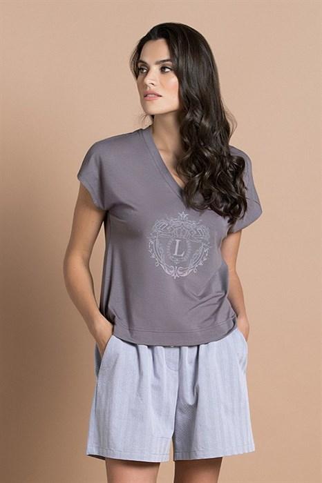 Женский домашний комплект с шортами - фото 8406