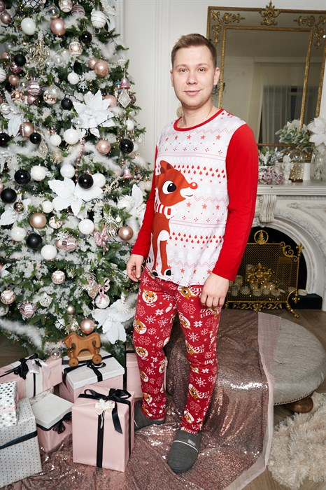 Семейные новогодние пижамы (папа) - фото 8501
