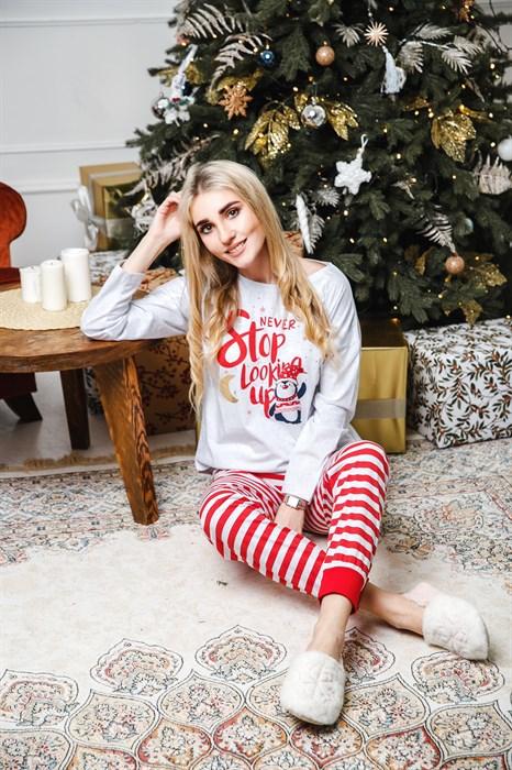 Женская новогодняя пижама - фото 8850