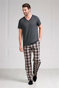 Пижама мужская с брюками в клетку