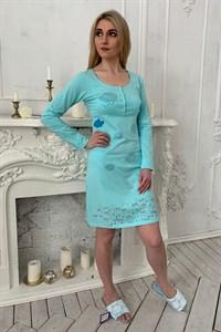 Домашнее платье-туника из мягкого хлопка