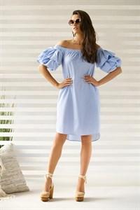 Платье летнее с рукавами-воланами