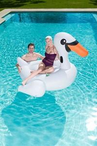 Надувной лебедь для плавания