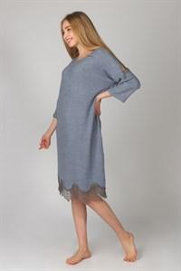 Теплое платье для дома с кружевами