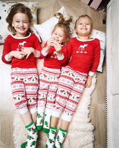 Новогодняя пижама для мамы и ребенка