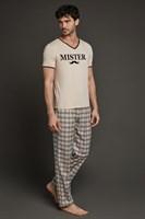 Пижама с брюками в  клетку - фото 4847
