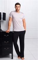 Пижама с брюками из вискозы - фото 4852