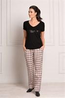 Пижама с брюками в клетку - фото 4856