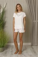Пижама с коротким рукавом - фото 5518
