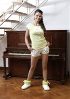 Желтая пижама с шортами - фото 5596