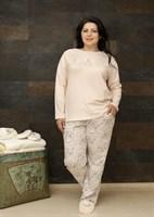 Хлопковая пижама большого размера - фото 5617