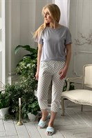 Женская пижама с бриджами - фото 7318