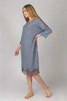 Теплое платье для дома с кружевами - фото 8158