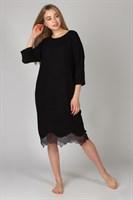 Теплое платье для дома с кружевами - фото 8159