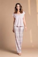 Пижама с клетчатыми брюками - фото 8372