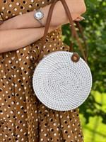 Круглая плетеная сумка - фото 8694