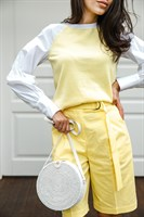 Круглая плетеная сумка - фото 8696