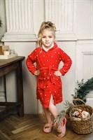Новогодний халат для девочки - фото 8737