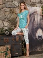 Пижама новогодняя с капри - фото 8834